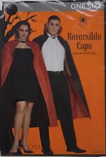 Halloween Adult Reversible Vampire Black & Red Cape OSFM One Size Fits Most NIP