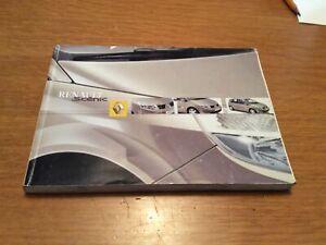 Renault SCENIC Uso E Manutenzione Manuale Libretto Istruzioni 2003