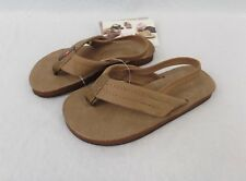 RAINBOW SANDALS Kids Premier Leather Sandals - Dark Brown - Kids Size 5/6 NWT