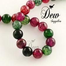 One Strand , About 38pcs Round Dyed Natural Tourmaline Gemstone Beads 10mm