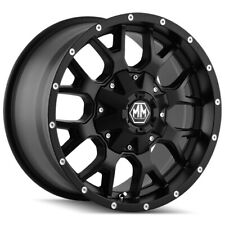 "4-Mayhem 8015 Warrior 17x9 6x4.5""/6x5.5"" +18mm Matte Black Wheels Rims 17"" Inch"