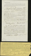 A New York Soldier's Affidavit Allowing a Proxy to Vote in the 1864 Election