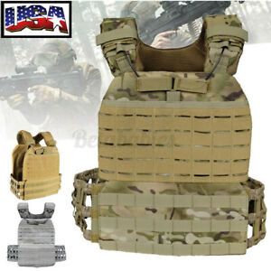 Tactical Vest Weight Plate Carrier Adjustable Combat Training Fitness Sporting