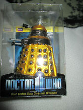 Doctor who  yellow  dalek , kurt s.alder  hand crafted  christmas ornament