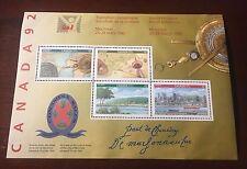 Canada 1407ai, Canada 92 Signature Sheet of 4, MNH