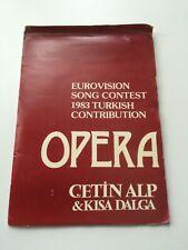 Eurovision 1980 Turkey Presspack