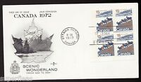 1972 Canadian House of Commons favor FDC, Rosecraft w/ 595iii LL pb