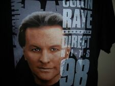 Colin Raye Direct Hits Tour 1998 T Shirt Sz Xl Signed Black