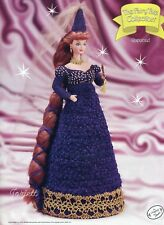 Rapunzel, Annie's Fairy Tale Collection crochet patterns fit Barbie dolls