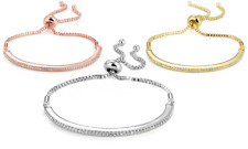 Friendship Bracelets Embellished with Crystals from Swarovski® in Gift Pouch