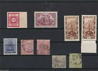 GERMANY  STAMPS ON STOCK CARD, MNH & USED  , EXCEPT 2.5 MARK IS MM, REF 1069