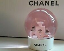 Chanel white bottle with pink Snow Globe Rare VIP GIFT. SHIPPING WORLDWIDE