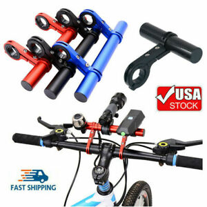 Bike Handlebar Stem Extension Rack Aluminum Alloy Bicycle Extender Mount Holder