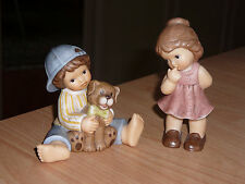 """2 Goebel - Figuren, """"Nina - Marco""""- Junge und Mädchen - 8 + 10 cm hoch -"""