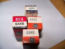 4 NOS 6AK6 tubes