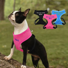 Custom Embroidered Dog Name Vest Harness Personalised Mesh for Small Medium Dogs