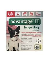 ADVANTAGE RED-55-6  FLEA CONTROL FOR DOGS AND PUPPIES 21-55 LBS 4 MONTH SUPPLY