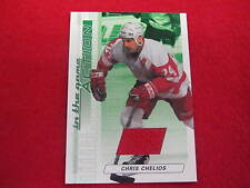 2003 ITG Action Chris Chelios Emerald game used jersey card   Red Wings  gu