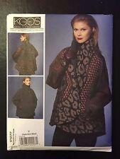 Vogue V1277 (Sizes: XS-M) | KOOS | Misses' Reversible Coat **NEW**