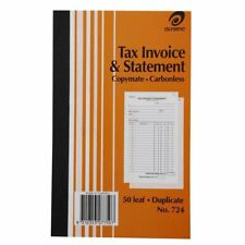 Olympic No. 724 Tax Invoice and Statement Carbonless Book - 140870