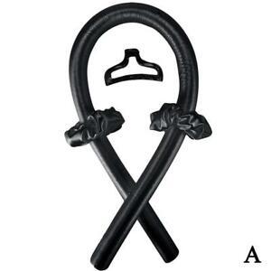 Heatless Curling Rod Curls Silk Ribbon Hair Rollers Sleeping Wave Kit.