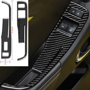 For Chevrolet Camaro 2010-15 Window Shift Switch Panel Carbon Fiber Sticker Trim