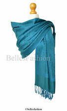 Teal Pashmina Shawl/Wrap/Scarf/Coverup/Formal/Wedding/Prom/Gift/Party/Bridesmaid