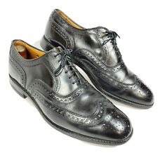 Allen Edmonds Fairhaven Brogue Wingtip Black Leather Oxford Dress Shoes Size 10D