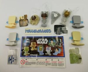 SERIE COMPLETA STAR WARS (SE338 H - FS328) + 8 BPZ KINDER JOY INDIA 2018