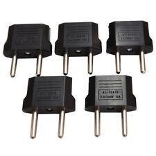 5PCS US to EU Plug Conversion Power Converter Round Pin Socket US Travel Adapter