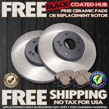 O0617 FIT 1993 1995 1997 Mazda MX-6 MX6 FRONT Black Brake Rotors Ceramic Pads