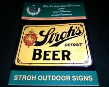 Beer History Book- Rare Pre Pro Signs of Stroh's Brewery, Strohs Beer, Heurich
