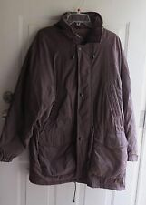 North Bay Special Project Jacket w Hood Quilt Lined Water Resistant Large Brown