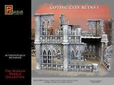 Pegasus Models 28mm Gothic City Building Ruins Set 4930 Plastic Model Kit NEW!