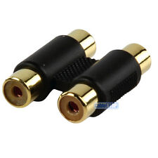 Double RCA Phono 2 x Female to Female Coupler Connector