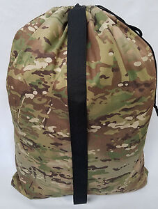 MULTICAM CAMO 30x40 CANVAS LAUNDRY BAG with CARRY STRAP- MADE IN USA