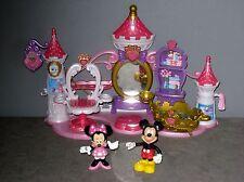 Château/Salon de beauté/Coiffeuse Disney avec Figurines Minnie & Mickey