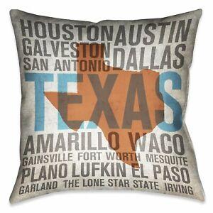 States - Texas Indoor Decorative Pillow