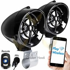Waterproof Bluetooth Stereo Speakers Audio System MP3 Radio Kawasaki Arctic ATV