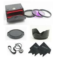 52MM UV CPL FLD Filter Kit + Lens Hood for Nikon D5200 D5100 D3200