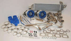 1979 - 1993 FOR FORD MUSTANG Twin Turbo Kit 750hp TT 260 289 302 351 5.0L 5L
