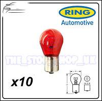 TRADE PACK of 10 Ring PR21W Brake Red Bulb 21w R782