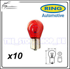 TRADE PACK of 10 Ring PR21W Brake Red Bulb 21w R782