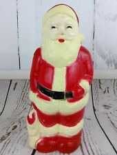 "Vintage Santa Blow Mold 13"" Union Products Inc Leominster Christmas No Light"