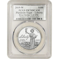 2019-W American Platinum Eagle Proof 1 oz $100 PCGS PR70 First Strike 1 of 250