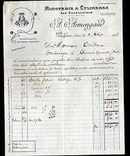"""PUICHERIC (11) MOULIN à GRAINS / MINOTERIE par GRANULATEUR """"A. ARMENGAUD"""" 1933"""