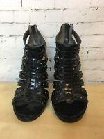 ALDO Black gladiators caged High Heels Sandals - Size UK 5