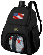 USA Flag Soccer Backpack - American Flag Volleyball Bag -SIDE SHOE POCKETS!