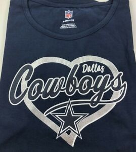 Authentic DALLAS COWBOYS / Navy / Youth-Girls T-shirt /Silver Star / NWT S/S
