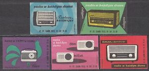 POLAND 1962 Matchbox Label - Cat.Z#242/46V  Radio in every home (II)